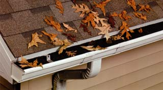 Gutter with Rapidflow™ Gutter Drainage Protection Installed